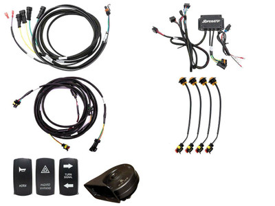 SuperATV Kawasaki Mule Pro Plug and Play Turn Signal Kit TSK-K-FXT-004