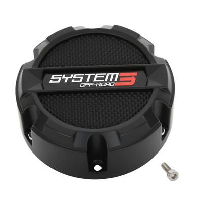 System 3 Offroad SB4 Center Cap 4x137 and 4x156Black CAPS3-140