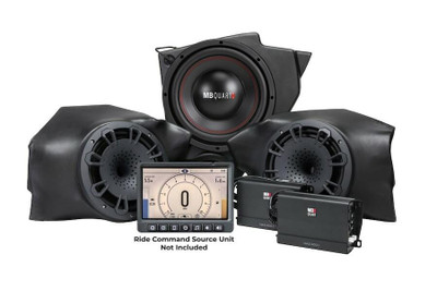 MB Quart Polaris RZR Audio System Stage 3 Gen 2 Ride Command MBQR-STG3-RC-1