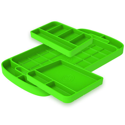SandB Filters Silicone Tool Tray Lime Green 3 Piece Set 80-1000