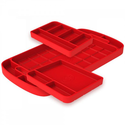 SandB Filters Silicone Tool Tray Red 3 Piece Set 80-1001