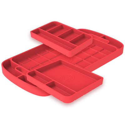 SandB Filters Silicone Tool Tray Pink 3 Piece Set 80-1003