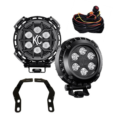 KC HiLites 16-18 Toyota Tacoma Ditch Mount 4 Round LZR LED Light Kit Spot 97092
