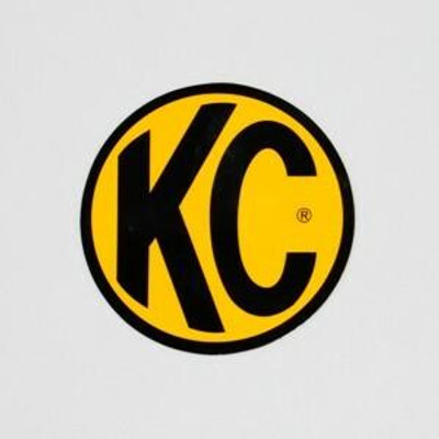 KC HiLites 6 Decal - Yellow with Black Logo 9910