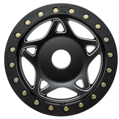 Walker Evans 14x7 Legend II Beadlock Racing UTV Wheels Satin Black Walker Evans 2410