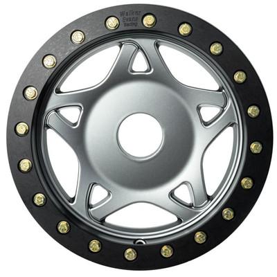 Walker Evans 14x6 Legend II Beadlock Racing UTV Wheels Gun Metal Walker Evans 2418