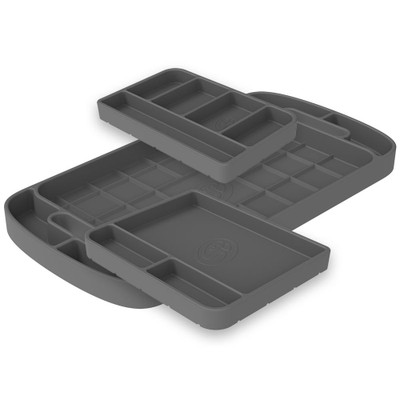 SandB Filters Silicone Tool Tray Charcoal 3 Piece Set 80-1004