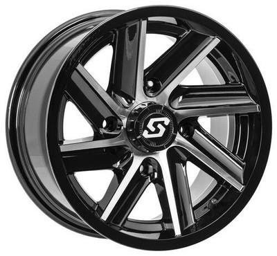Sedona Chopper UTV Wheel 14X7 4X110 Machined Black 570-1280