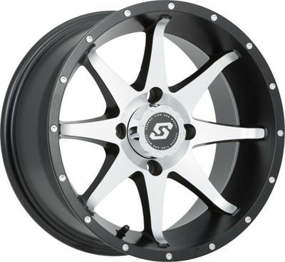 Sedona Storm UTV Wheel 12X7 4X110-47mmSatin Silver/Black 570-1161