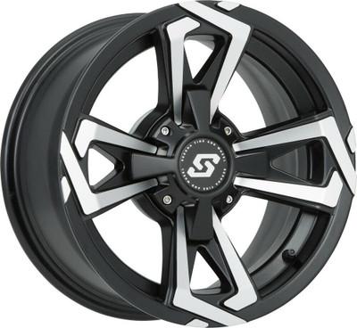 Sedona Riot UTV Wheel 15X7 4X110Satin Black 570-1265