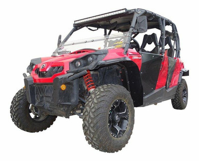 MudBusters Can-Am Commander Fender Extensions Front Only Extra Coverage With XT Fenders 95009