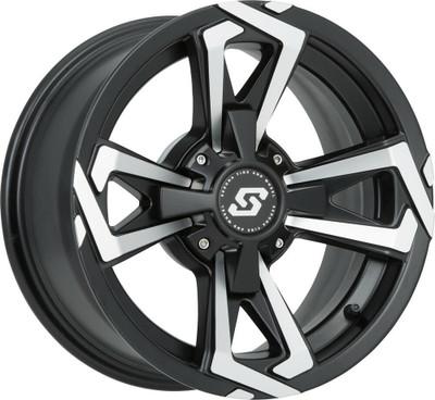 Sedona Riot UTV Wheel 12X7 4X137 -47mm Satin Black 570-1254