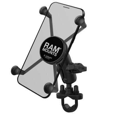 RAM Mounts X-Grip Large Phone Mount with Handlebar U-Bolt Base RAM-B-149Z-A-UN10U