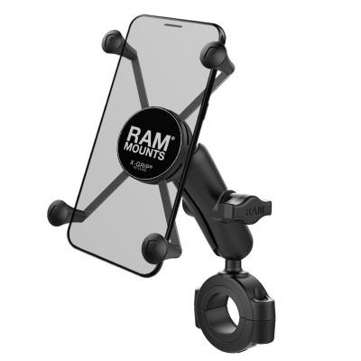 RAM Mounts X-Grip Large Phone Mount with RAM Torque Large Rail Base 1.125 - 1.5 diameter RAM-B-408-112-15-UN10U