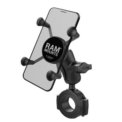 RAM Mounts X-Grip Phone Mount with RAM Torque Large Rail Base 1.125 - 1.5 diameter RAM-B-408-112-15-A-UN7U