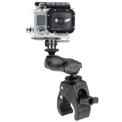 RAM Mounts Tough-Claw Base with Short Double Socket Arm and GoPro/Action Camera Mount RAP-B-400-A-GOP1U