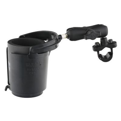 RAM Mounts Level Cup Drink Holder with Handlebar U-Bolt Base 12oz to 16oz RAM-B-132RU