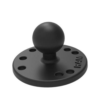 RAM Mounts Round Plate with Ball Marine-grade aluminum RAM-B-202U