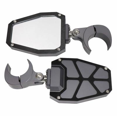 ModQuad Racing Bezel Side Mirror 1.75 Grey w/ Black Bezels 375969