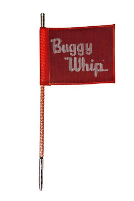 Buggy Whip 2 ft Red LED Whip w/ Red Flag Bright Quick Release Base BWBRTLED2RQ