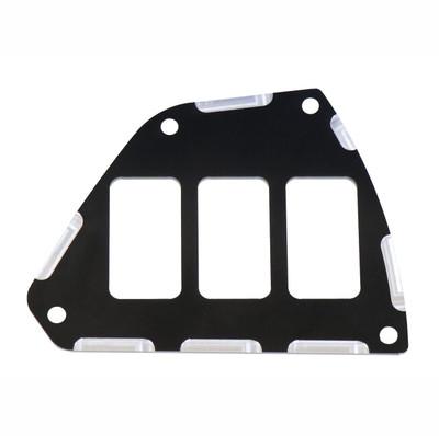 ModQuad Racing Honda Talon Switch Plate Panel Black 3 Slot 379961