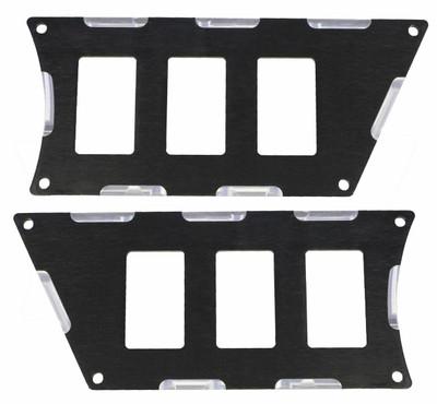 ModQuad Racing Polaris RZR XP 1000 Switch Plate Panel Black 6 Slot 375803
