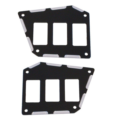 ModQuad Racing Polaris RZR XP 1000 XP Turbo 16-20 Switch Plate Panel Black 6 Slot 379854