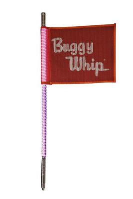 Buggy Whip 8 ft Pink LED Whip w/ Red Flag Standard Threaded Base BWLED8PKT