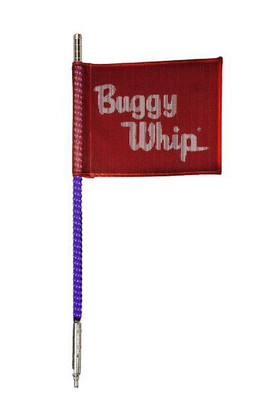 Buggy Whip 8 ft Purple LED Whip w/ Red Flag Bright Quick Release Base BWBRTLED8PPQ