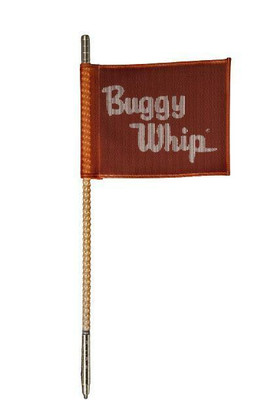 Buggy Whip 8 ft Orange LED Whip w/ Red Flag Bright Otto Release Base BWBRTLED8OOR