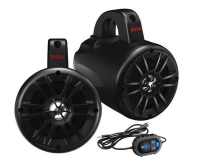 Boss Audio One Pair Amplified Bluetooth Power Pod ATV/UTV/Waketower Audio System BM40AMPBT