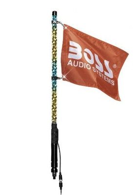 """Boss Audio Changing RGB Colors Whip Antenna (24"""") (XP2)"""