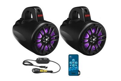 Boss Audio Weatherproof Amplified Bluetooth Power Pod ATV/UTV/Waketower Audio System 4 B40RGB