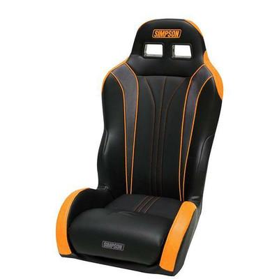 Simpson Vortex II Can-Am Maverick X3 UTV Seat Ultra Low Black/Orange 101-308-X3-LOW