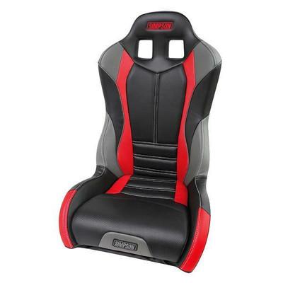 Simpson Pro Sport Honda Talon UTV Seat Black/Red Driver 107-306-TALON-DRIVER