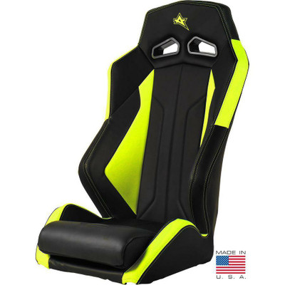 Amped Off-Road Polaris RZR Pro XP ADS-I UTV Suspension Seat Fixed Black/Lime Squeeze 6500NY-XP-FIXED