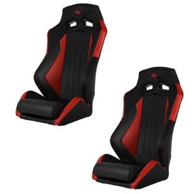 Amped Off-Road Polaris RZR 2010 ADS-I UTV Suspension Seats Pair Black/Red 6500RD-RZR