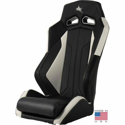 Amped Off-Road Yamaha YXZ ADS-I UTV Suspension Seat Black/White 6500WH-YXZ