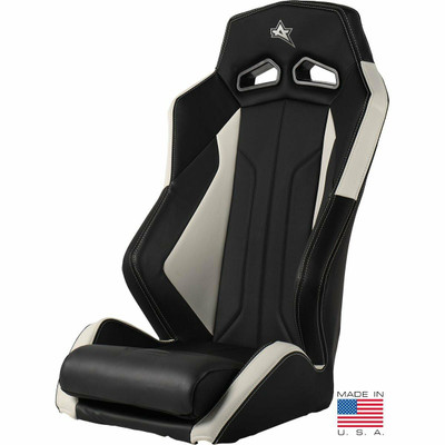 Amped Off-Road Honda Talon ADS-I UTV Suspension Seat Black/White 6500WH-TALON