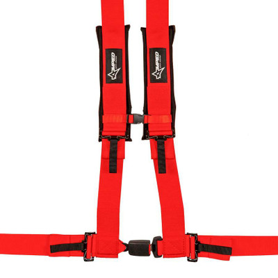 Amped Off-Road 4.3 Autobuckle UTV Harness w/ Removable Pads Red 8103RD