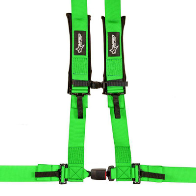 Amped Off-Road 4.3 Autobuckle UTV Harness w/ Removable Pads Green 8103GN