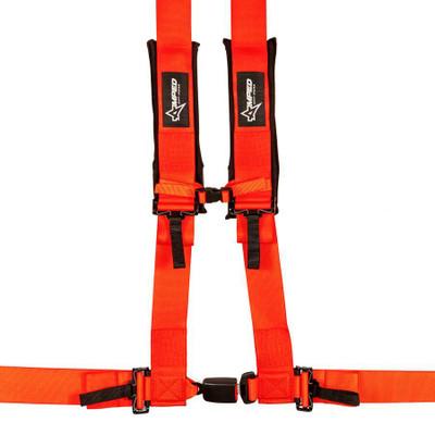 Amped Off-Road 4.3 Autobuckle UTV Harness w/ Removable Pads Orange 8103OR