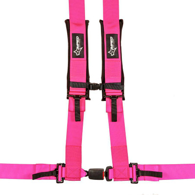 Amped Off-Road 4.3 Autobuckle UTV Harness w/ Removable Pads Pink 8103PK