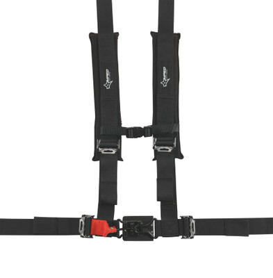Amped Off-Road 4.2 Latch and Link UTV Safety Harness w/ Removable Pads Black 8100BK