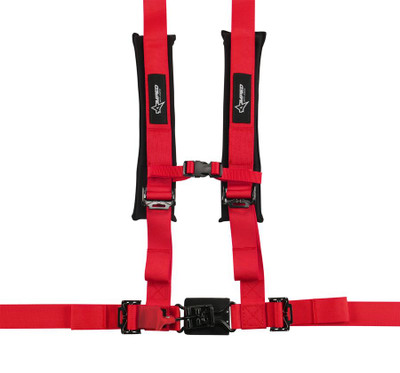 Amped Off-Road 4.2 Latch and Link UTV Safety Harness w/ Removable Pads Red 8100RD