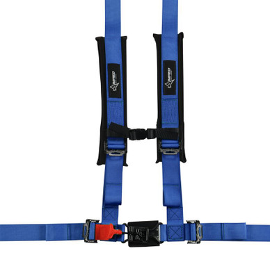 Amped Off-Road 4.2 Latch and Link UTV Safety Harness w/ Removable Pads Blue 8100BU