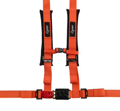 Amped Off-Road 4.2 Latch and Link UTV Safety Harness w/ Removable Pads Orange 8100OR