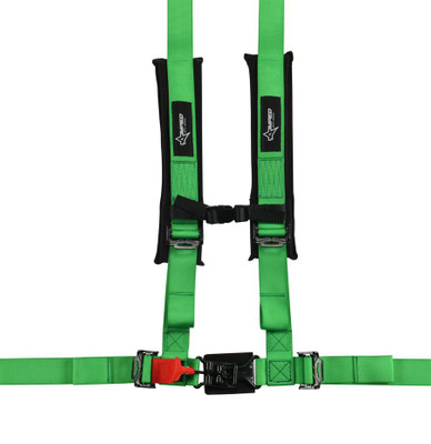 Amped Off-Road 4.2 Latch and Link UTV Safety Harness w/ Removable Pads Green 8100GR
