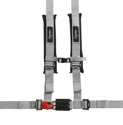 Amped Off-Road 4.2 Latch and Link UTV Safety Harness w/ Removable Pads Silver 8100SV