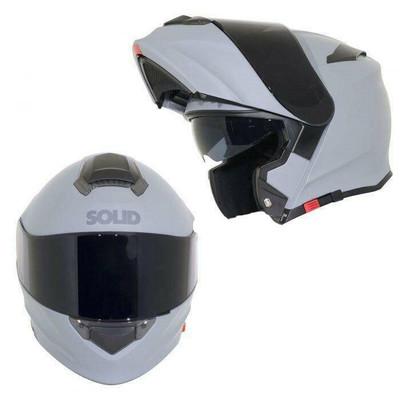 SOLID Helmets S54 Modular Full Face Helmet Matte Grey SOLID-S54-GR